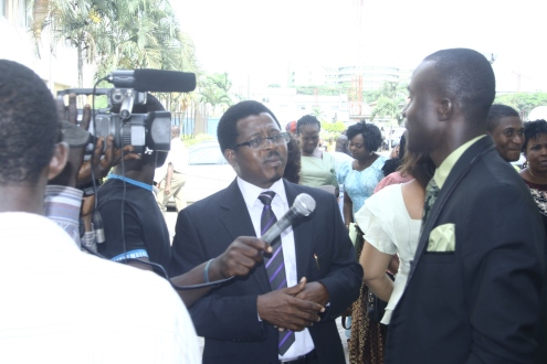 Idowu Omisore, being interviewed by Kehinde Ojo of African Independent Television(AIT) at the public presentation of his second book titled DREAM AND ACHIEVE GREATNESS